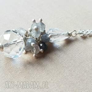 ręcznie wykonane naszyjniki srebro naszyjnik ze srebra i kryształu