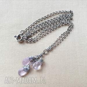 modne naszyjniki srebro naszyjnik ze srebra i ametystu