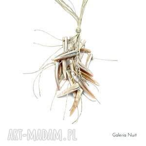 naszyjniki naturalny - długi naszyjnik lniany