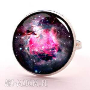 naszyjniki galaxy nebula - medalion z łańcuszkiem