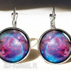 niebanalne naszyjniki kosmos nebula - medalion z łańcuszkiem