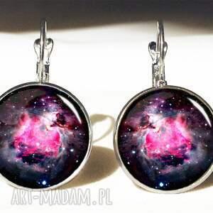 nebula naszyjniki fioletowe - medalion z łańcuszkiem