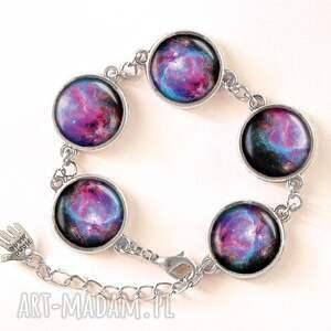 nebula naszyjniki turkusowe - medalion z łańcuszkiem