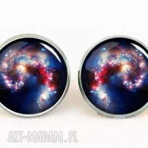 wyjątkowe naszyjniki galaxy nebula - medalion z łańcuszkiem
