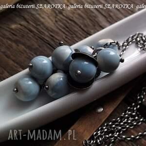 ręcznie robione naszyjniki srebro niebiańska niebieskość naszyjnik