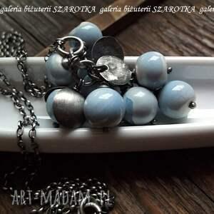 ręcznie robione naszyjniki opal niebiańska niebieskość naszyjnik
