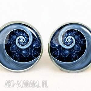 naszyjniki spirala niebieska - medalion