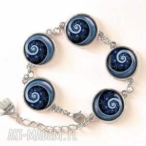niebieska naszyjniki spirala - medalion
