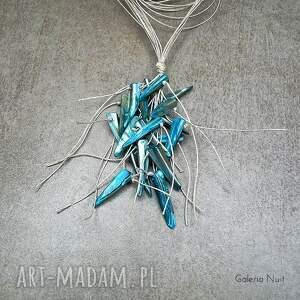 boho naszyjniki niebieski - długi naszyjnik