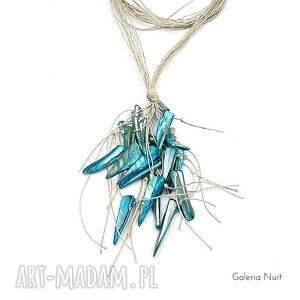 intrygujące naszyjniki boho niebieski - długi naszyjnik