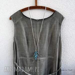 turkusowe naszyjniki długi niebieski - naszyjnik