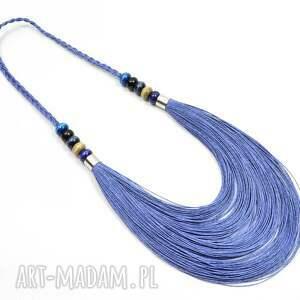 handmade naszyjniki stopniowany niebieski jeansowy