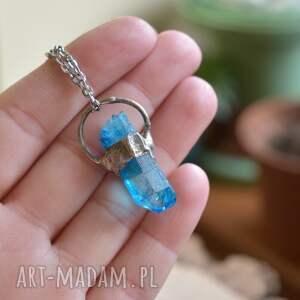 ręczne wykonanie naszyjniki wisior kryształ niebieski