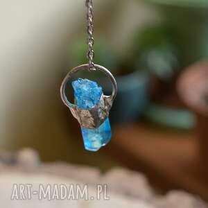 wisior kryształ naszyjniki niebieski