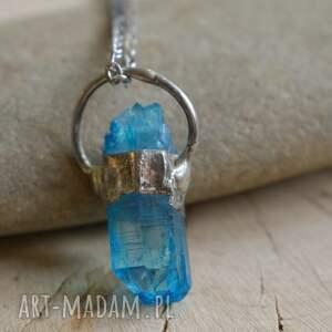 ręczne wykonanie naszyjniki niebieski wisior kryształ