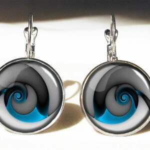 ślimak naszyjniki niebieskie niebieski - medalion