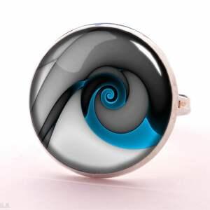 naszyjniki spirala niebieski ślimak - medalion