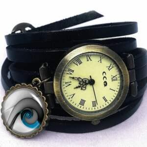 medalion naszyjniki niebieski ślimak -