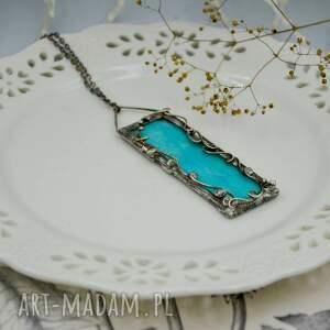 intrygujące naszyjniki naszyjnik z-wisiorem niebieskie liście