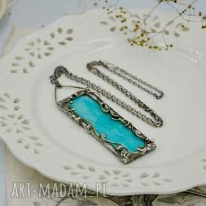 turkusowe naszyjniki naszyjnik z-wisiorem niebieskie liście