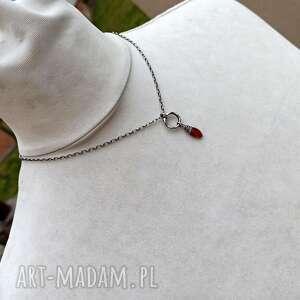 naszyjniki naszyjnik-z-kamieniem nowoczesny naszyjnik - srebro