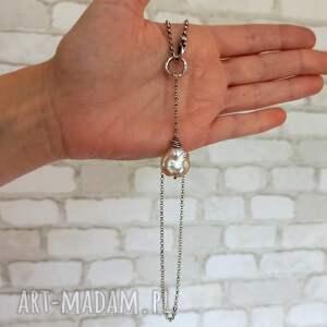 niepowtarzalne naszyjniki z-perłą nowoczesny naszyjnik z dużą perłą