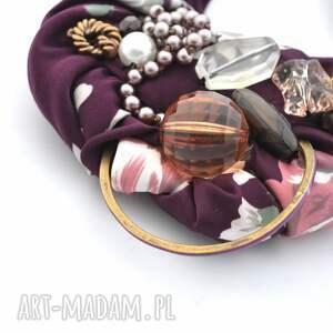kolorowy naszyjniki oberżyna naszyjnik handmade