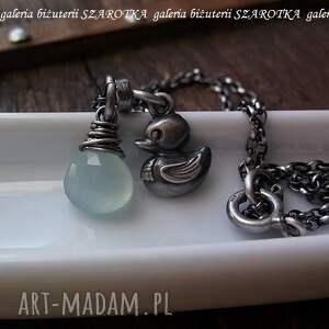 niebieskie naszyjniki chalcedon oczko wodne naszyjnik z chalcedonu