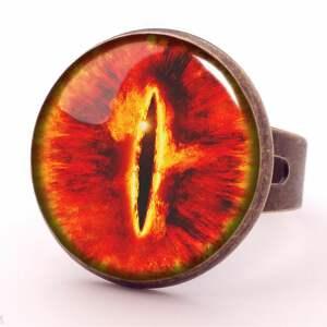 naszyjniki saurona oko - medalion