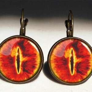 oko naszyjniki pomarańczowe saurona - medalion