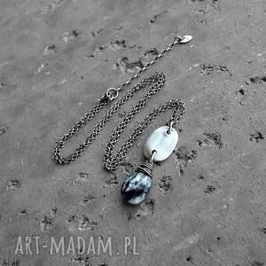 naszyjniki codzienny opal dendrytowy i srebro