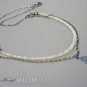 naszyjniki srebro opale australijskie - naszyjnik