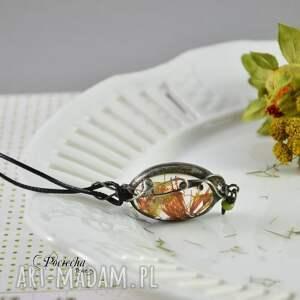 naszyjniki: Orange petals - naszyjnik z płatkami kwiatów - płatki