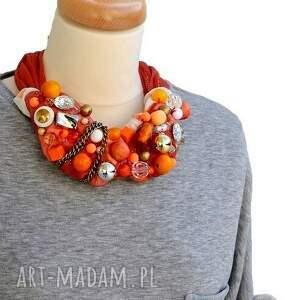 pomarańczowe naszyjnik orangina handmade