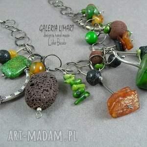 oryginalny naszyjniki zielone naszyjnik hand made. mix