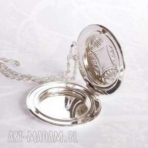 srebrny naszyjniki turkusowe oryginalny naszyjnik otwierany na