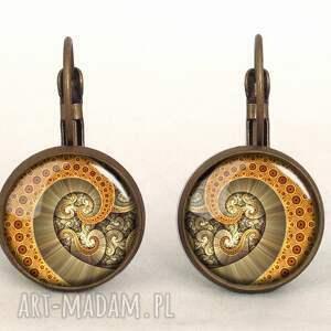 gustowne naszyjniki graficzny ośmiornica - medalion z łańcuszkiem