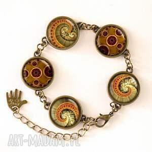 ośmiornica naszyjniki brązowe - medalion z łańcuszkiem