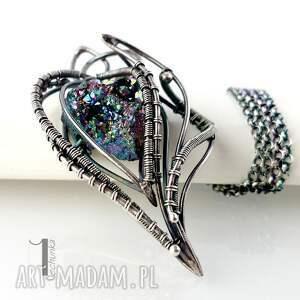 srebro naszyjniki niebieskie osobliwość - apus naszyjnik