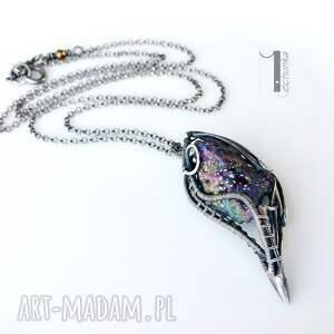 srebro naszyjniki różowe osobliwość - aurora ii - naszyjnik