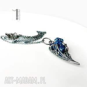 srebro naszyjniki niebieskie osobliwość - noc perseidów