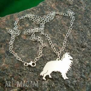naszyjniki naszyjnik z-psem owczarek szkocki collie srebro