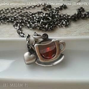 filiżanka herbaty naszyjniki owocowa na rozgrzewkę naszyjnik
