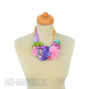 naszyjniki kolia pastelove naszyjnik handmade