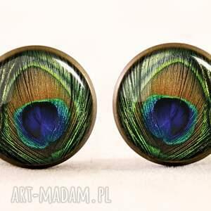 naszyjniki oko pawie - medalion z łańcuszkiem