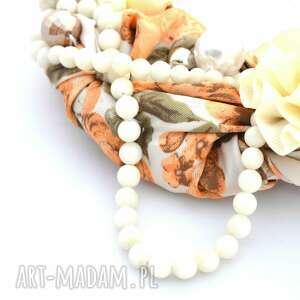 naszyjniki naszyjnik peaches & cream handmade