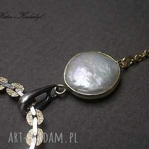 srebro naszyjniki białe pearls - naszyjnik