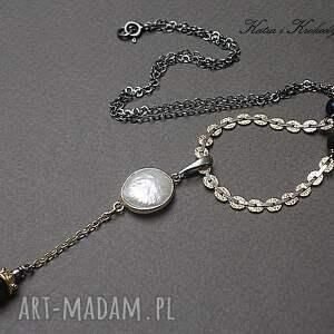handmade naszyjniki srebro pearls - naszyjnik