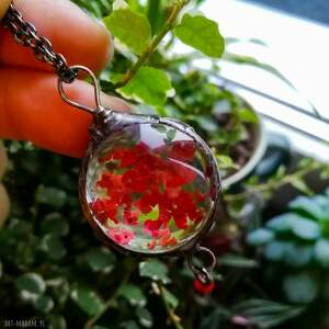niekonwencjonalne naszyjniki roślina w-szkle pepper - naszyjnik z pieprzem