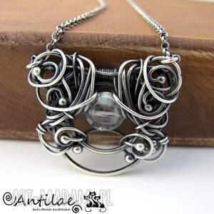naszyjnik naszyjniki pereti - kwarc mistyczny, srebro